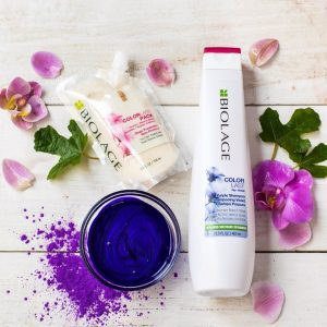 Biolage Colorlast Purple shampoo en Colorlast Deep Traetment Pack